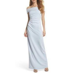 Light Blue Off-shoulder Vince Camuto Long Dress